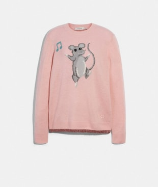 PARTY MOUSE INTARSIA SWEATER