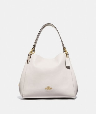 HALLIE SHOULDER BAG WITH SNAKE TRIM