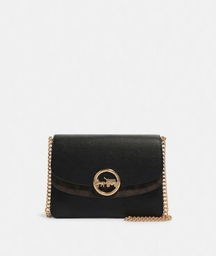 JADE FLAP CROSSBODY WITH SIGNATURE CANVAS DETAIL