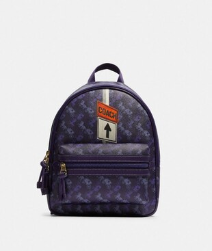 VALE MEDIUM CHARLIE BACKPACK WITH HORSE AND CARRIAGE PRINT