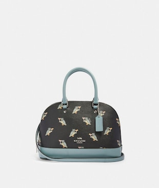 MINI SIERRA SATCHEL WITH PARTY OWL PRINT