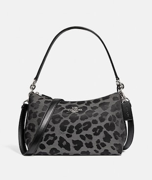 LEWIS SHOULDER BAG WITH LEOPARD PRINT