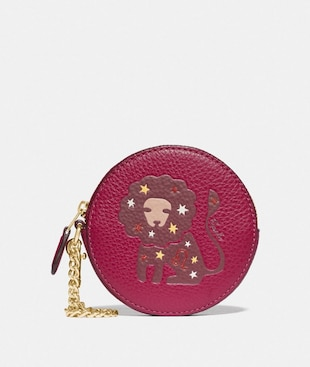 ROUND COIN CASE WITH LEO