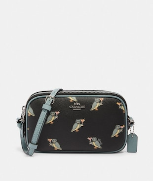 CROSSBODY POUCH WITH PARTY OWL PRINT