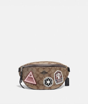 STAR WARS X COACH BELT BAG IN SIGNATURE CANVAS WITH PATCHES