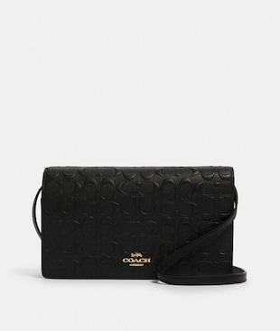 HAYDEN FOLDOVER CROSSBODY CLUTCH IN SIGNATURE LEATHER