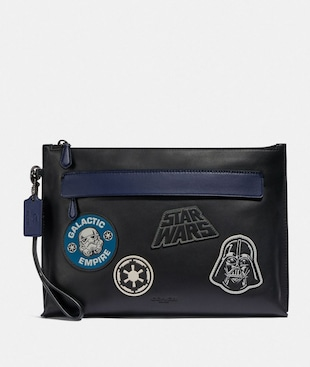 STAR WARS X COACH CARRYALL POUCH WITH PATCHES
