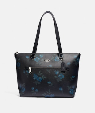 GALLERY TOTE WITH VICTORIAN FLORAL PRINT