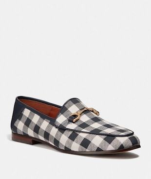 HALEY LOAFER WITH GINGHAM PRINT
