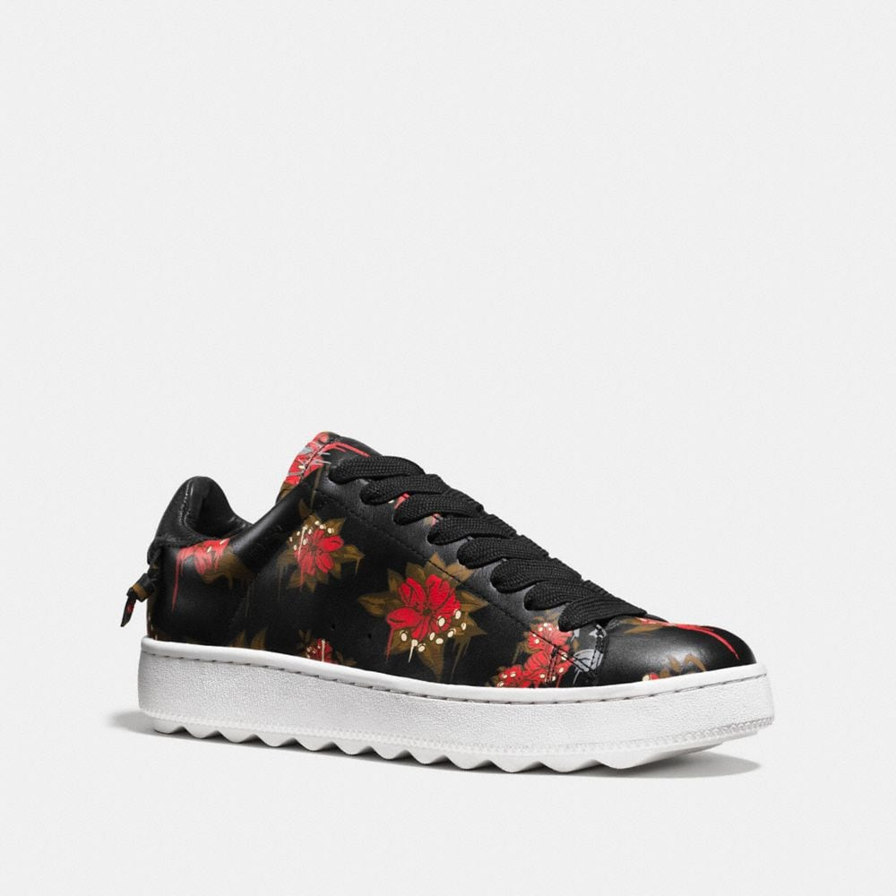 C101 WILD LILY LEATHER SNEAKER