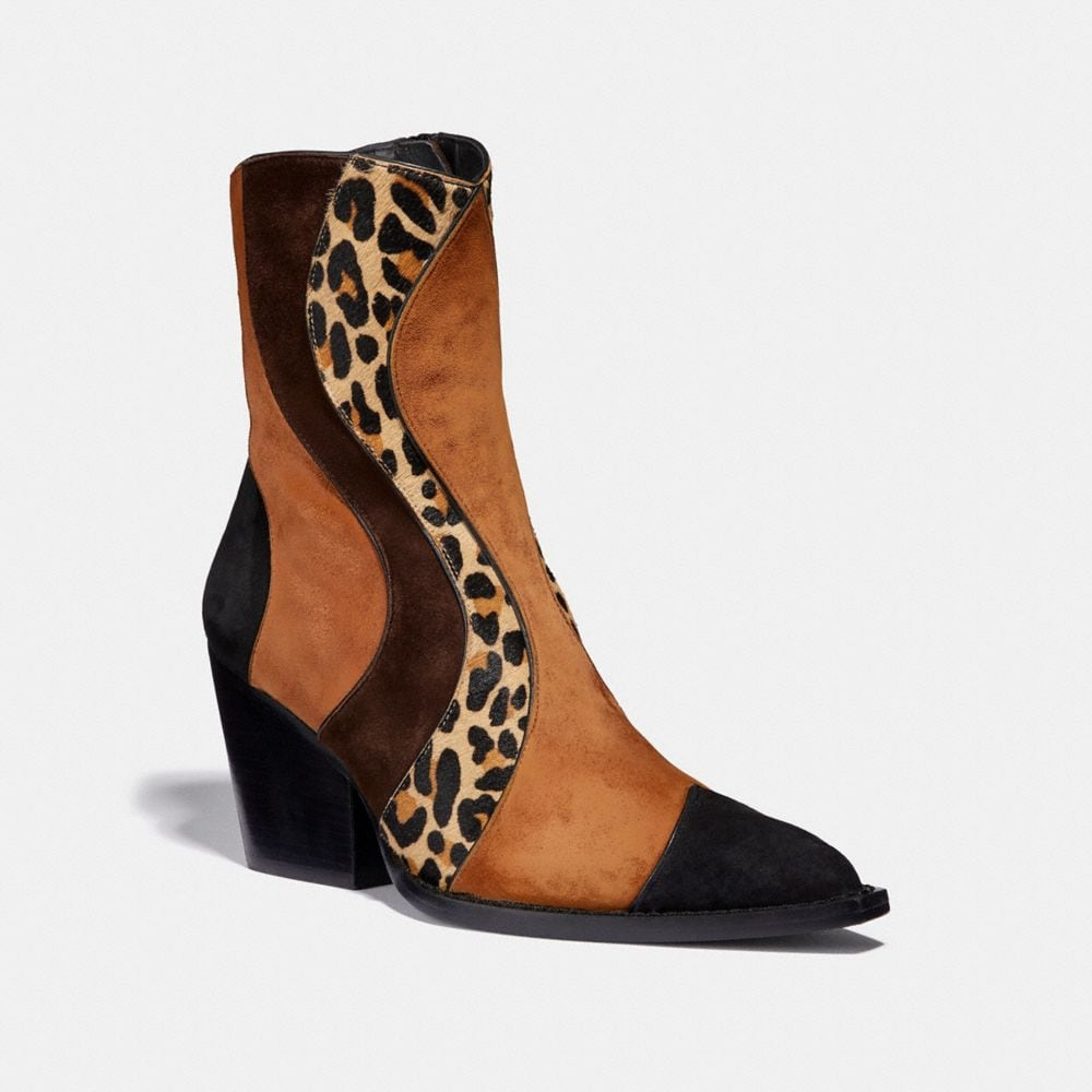 PATCHWORK BOOTIE WITH LEOPARD PRINT
