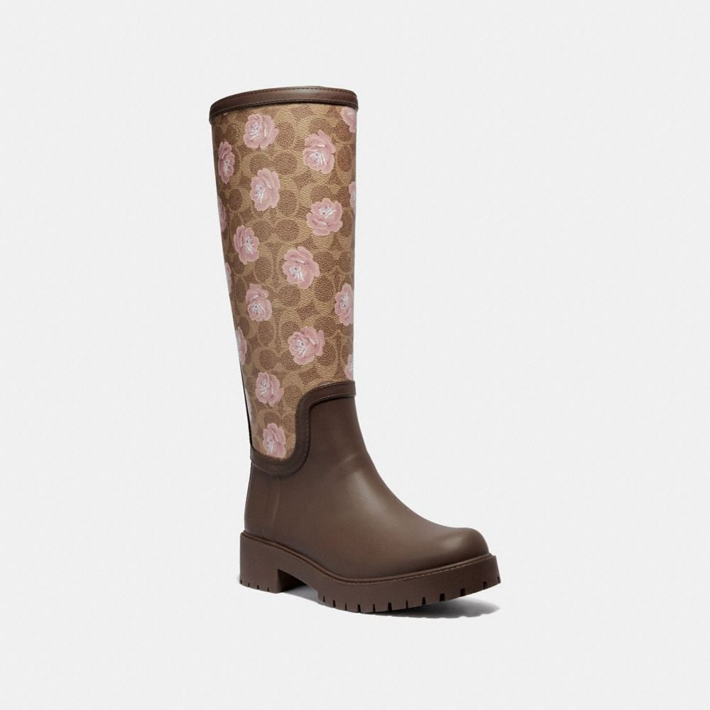 RAINBOOT WITH SIGNATURE FLORAL PRINT