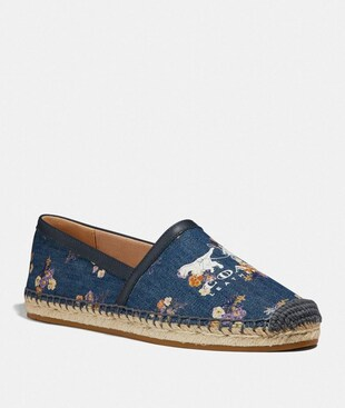 CASEY ESPADRILLE WITH PAINTED FLORAL BOW PRINT