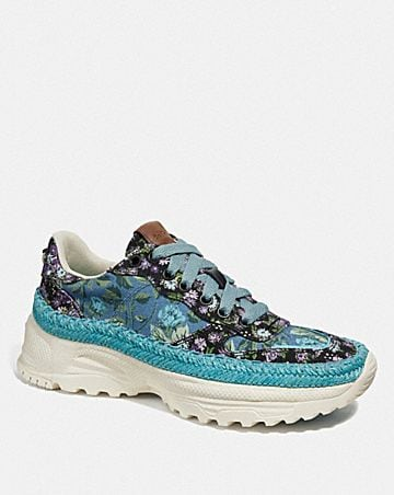 C143 ESPADRILLE RUNNER WITH MIX SLEEPY ROSE PRINT
