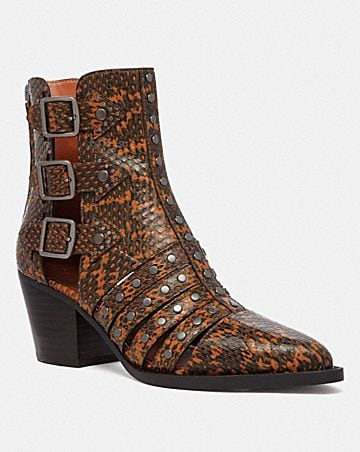 BOTTINES PHEOBE EN PEAU DE SERPENT