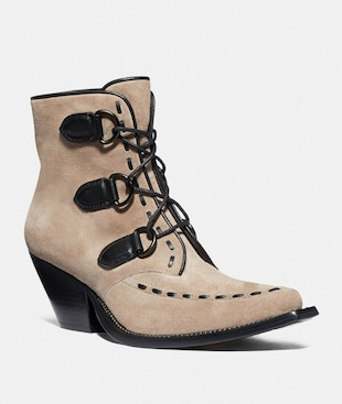 LACE UP CHAIN BOOTIE