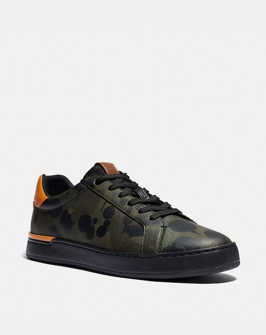 LOWLINE LOW TOP SNEAKER WITH WILD BEAST PRINT