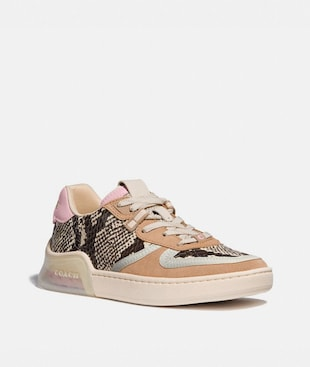 BASKETS CITYSOLE COURT EN PEAU DE SERPENT
