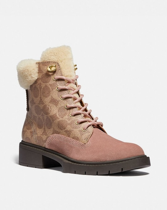 LORIMER BOOTIE IN SIGNATURE CANVAS