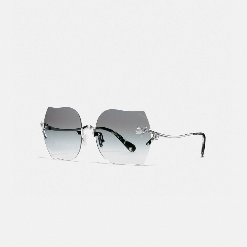 RIMLESS TEA ROSE SUNGLASSES