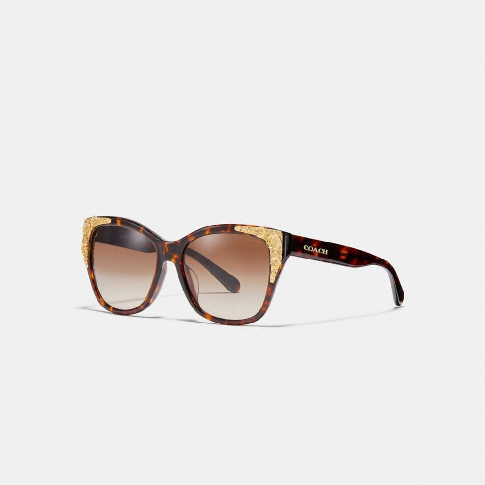 METAL TEA ROSE SQUARE SUNGLASSES
