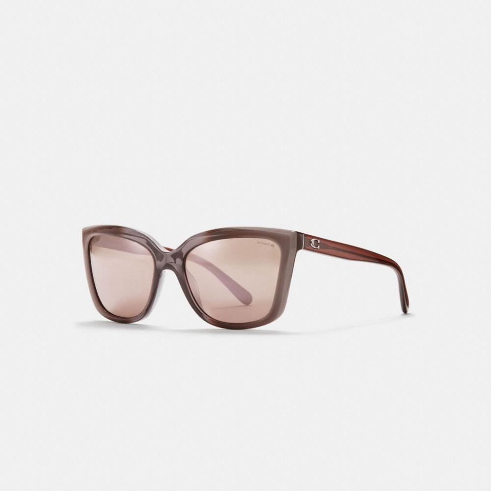 BEVELED EDGE SQUARE SUNGLASSES