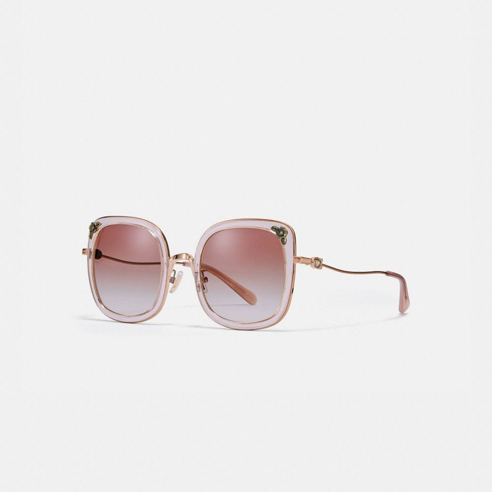 TEA ROSE SQUARE SUNGLASSES