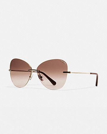 RIMLESS LENS APPLIQUE SUNGLASSES
