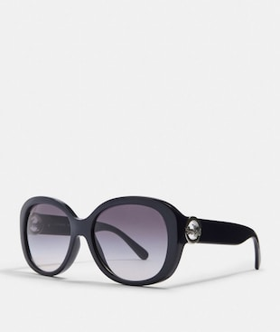 OVERSIZED METAL SOFT SQUARE SUNGLASSES