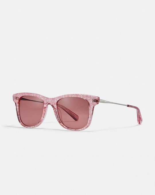 SIGNATURE GLITTER METAL SQUARE SUNGLASSES