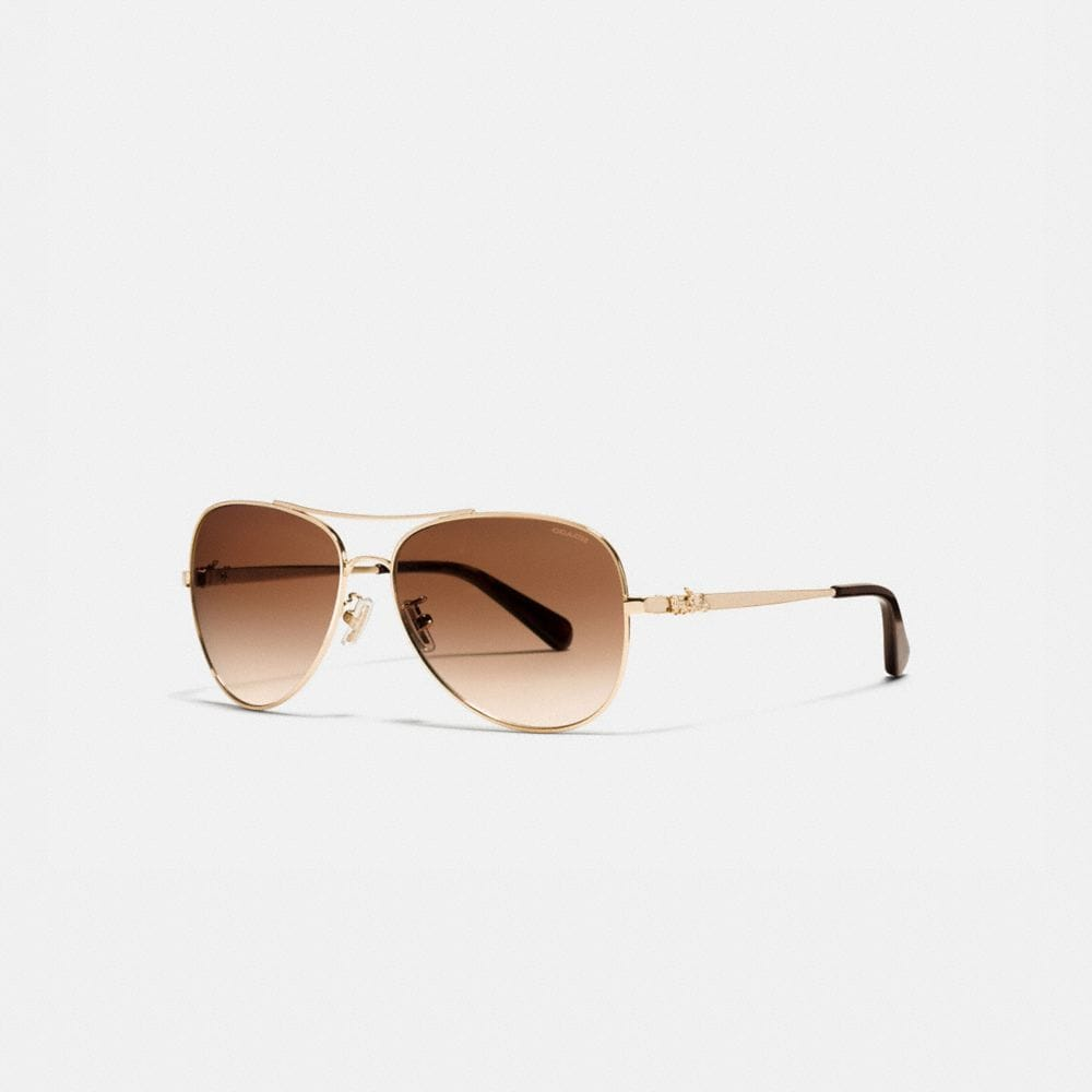 HORSE AND CARRIAGE METAL PILOT SUNGLASSES