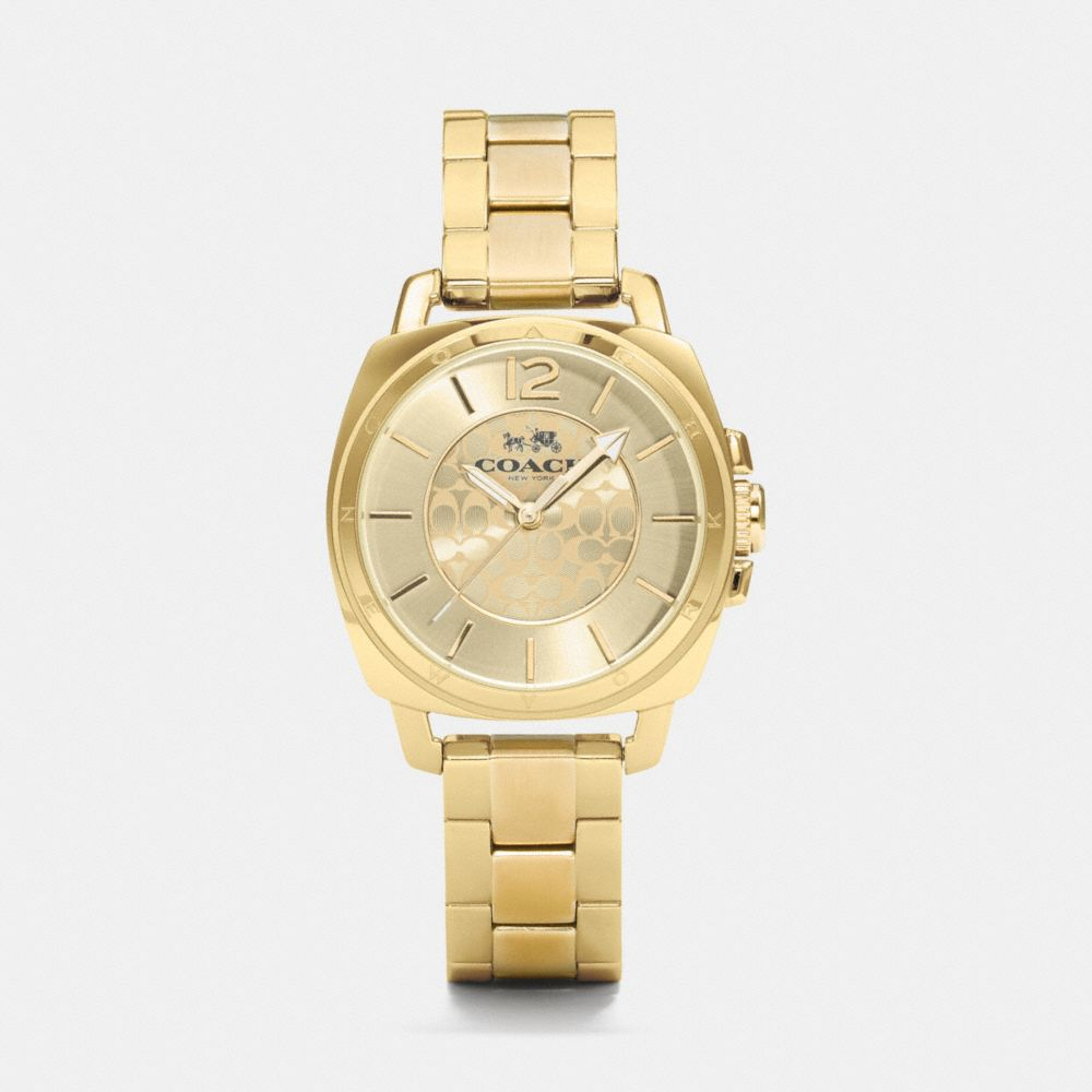 BOYFRIEND 34MM GOLD PLATED BRACELET WATCH