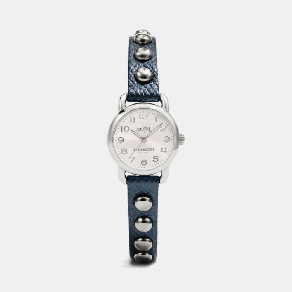 DELANCEY STERLING SILVER STUDDED STRAP WATCH