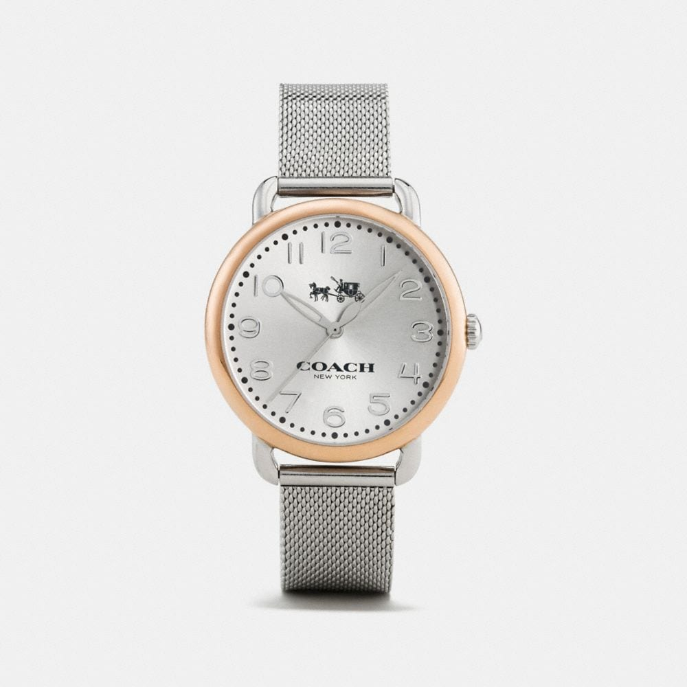 DELANCEY TWO-TONE MESH BRACELET WATCH