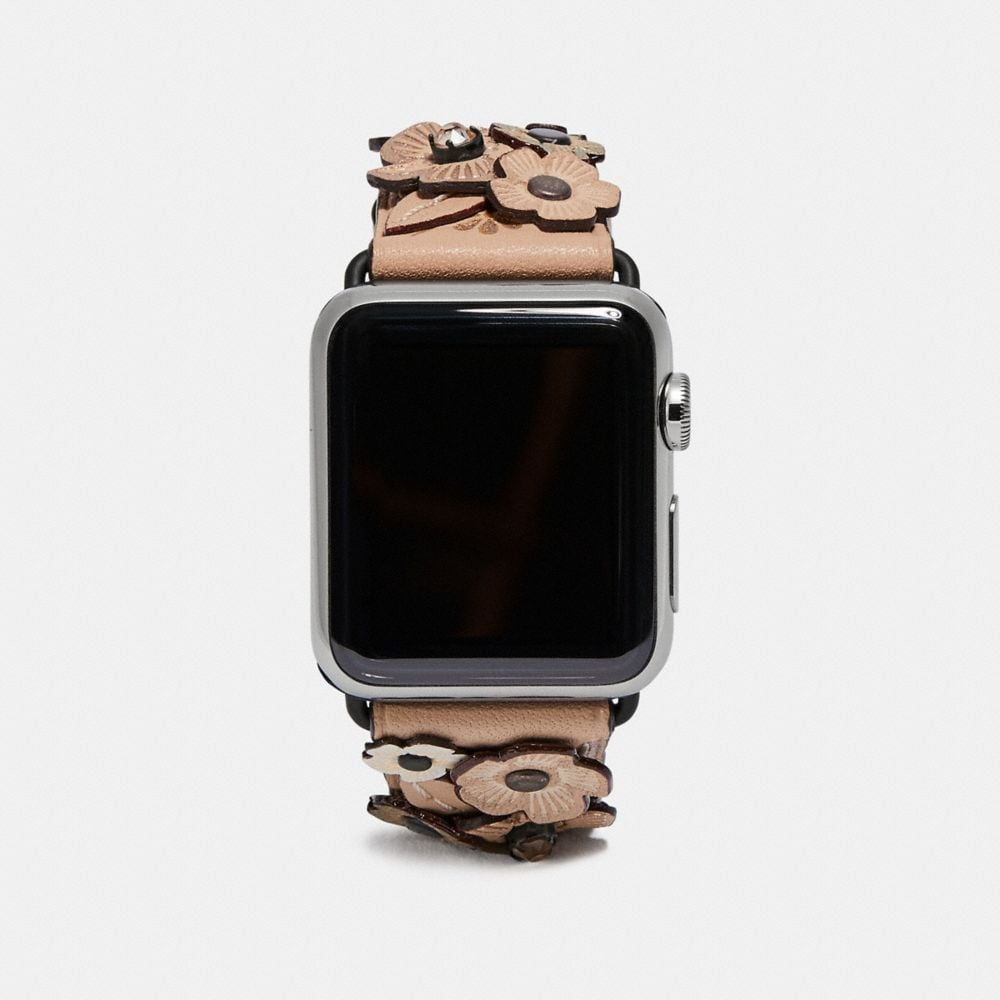 BRACELET APPLE WATCH® AVEC MOTIF ROSE THÉ EN CRISTAL