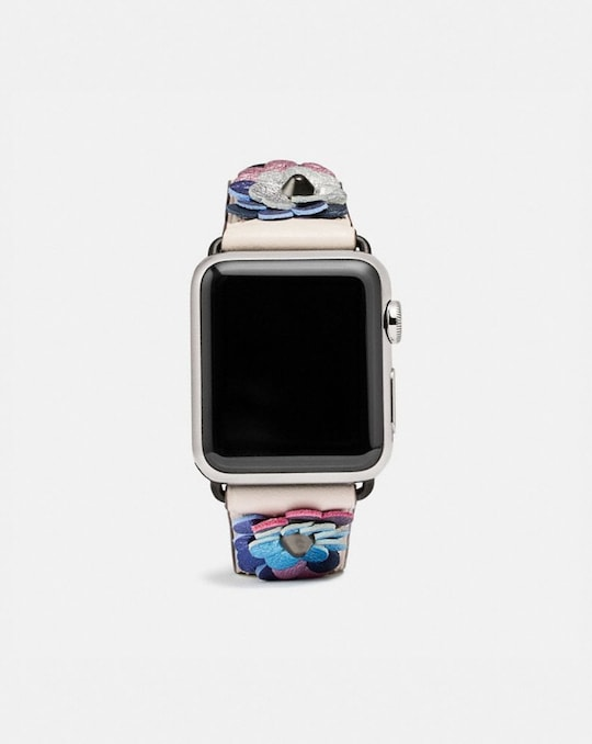 APPLE WATCH® STRAP WITH LEATHER SEQUINS, 38MM