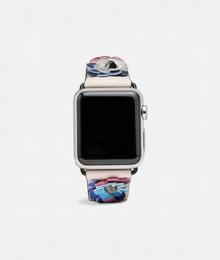 APPLE WATCH® STRAP WITH LEATHER SEQUINS