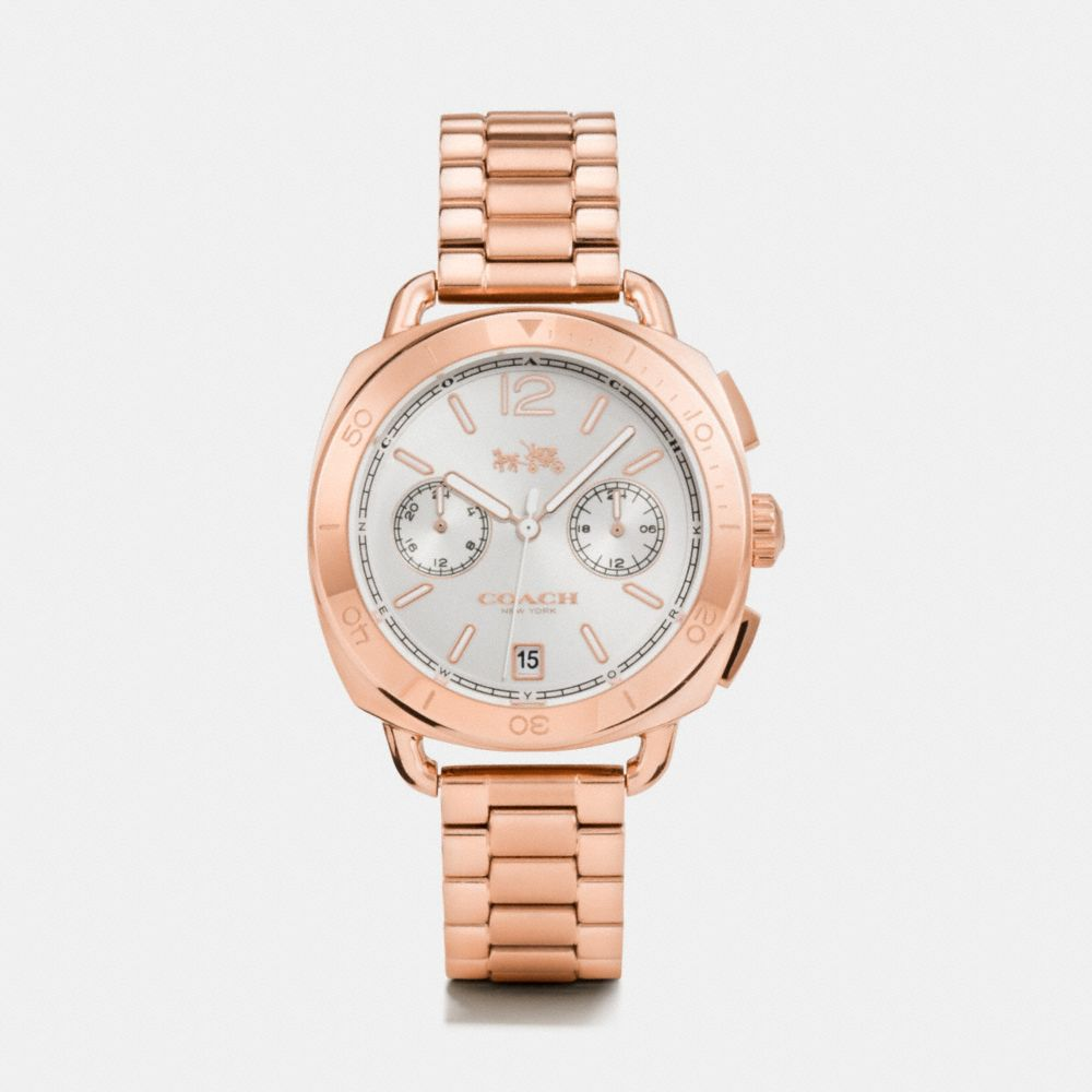 TATUM ROSE GOLD TONE SUNRAY DIAL BRACELET WATCH