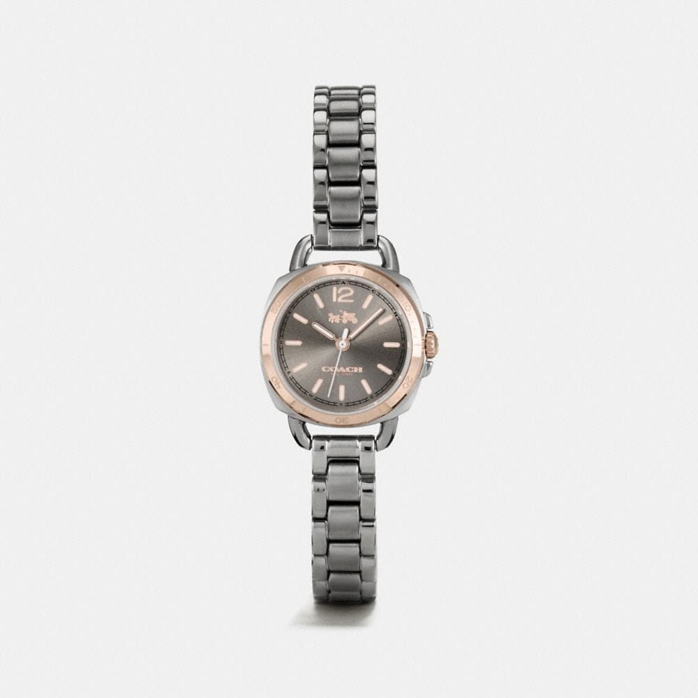 TATUM GREY IONIZED PLATED SUNRAY DIAL BRACELET WATCH