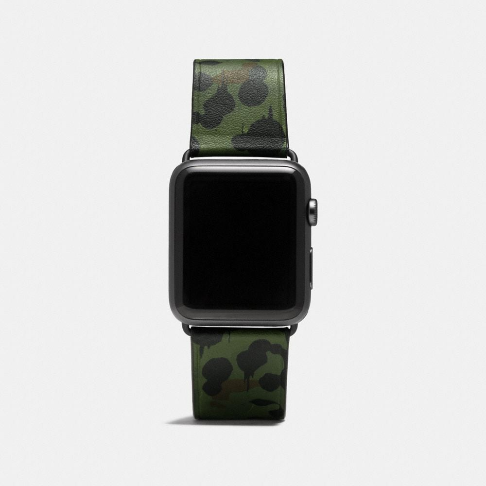 "APPLE WATCH® LEDERARMBAND IM ""WILD BEAST CAMO""-DESIGN"