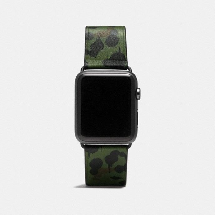 coach men s watches apple watch® wild beast camo leather strap