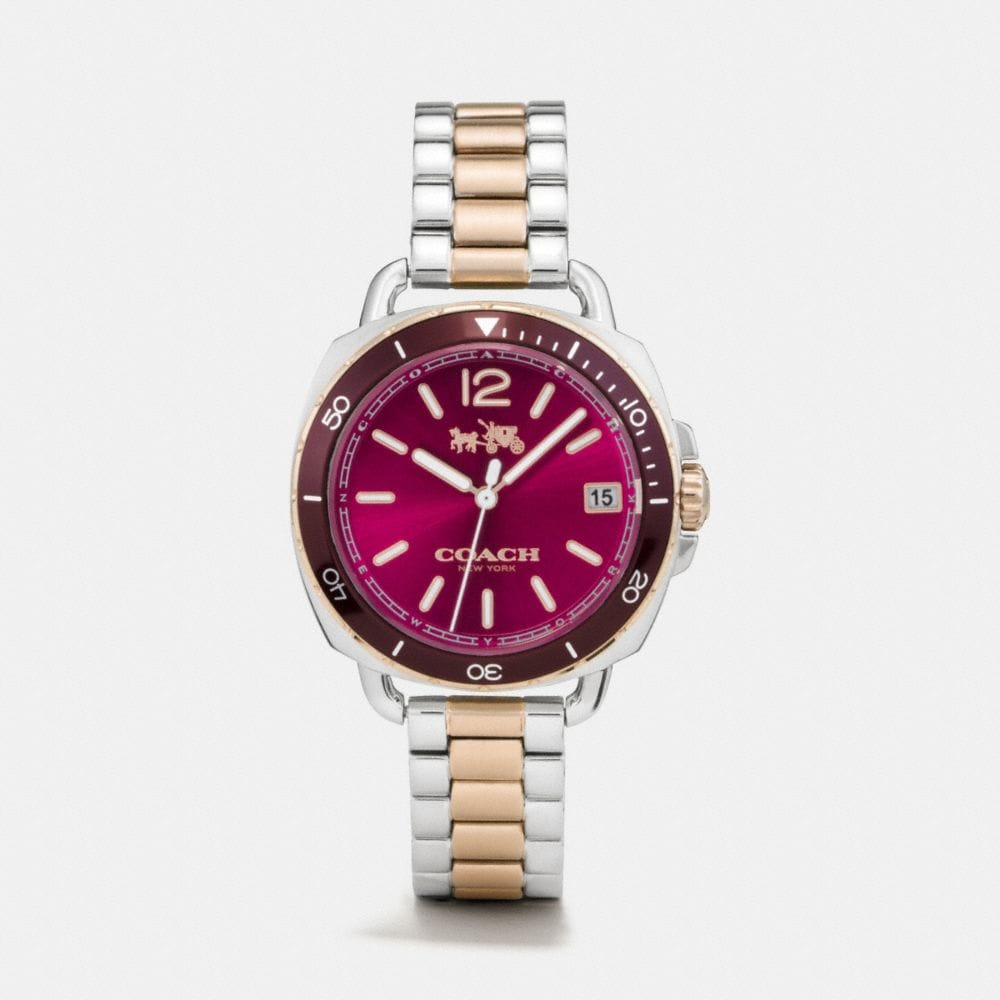 TATUM TWO TONE SUNRAY DIAL BRACELET WATCH